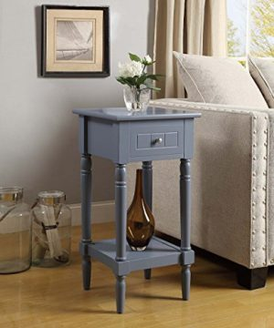 Convenience Concepts French Country Khloe Accent Table Gray 0 300x360