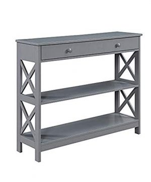 Convenience Concepts Oxford 1 Drawer Console Table Gray 0 300x360