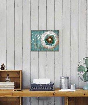 Dandelion Canvas Wall Art For Rustic Home Decor White Dandelion Green Driftwood Theme Country Wall Decor For Bathroom Bedroom Modern Canvas Prints Artwork For Farmhouse Kitchen Wall Decoration 12x16 0 0 300x360