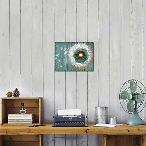 Dandelion Canvas Wall Art For Rustic Home Decor White Dandelion Green Driftwood Theme Country Wall Decor For Bathroom Bedroom Modern Canvas Prints Artwork For Farmhouse Kitchen Wall Decoration 12x16 0 0