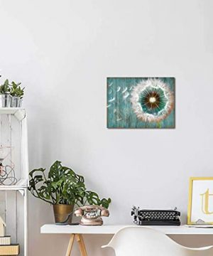 Dandelion Canvas Wall Art For Rustic Home Decor White Dandelion Green Driftwood Theme Country Wall Decor For Bathroom Bedroom Modern Canvas Prints Artwork For Farmhouse Kitchen Wall Decoration 12x16 0 1 300x360