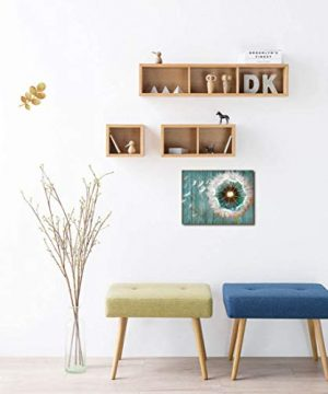 Dandelion Canvas Wall Art For Rustic Home Decor White Dandelion Green Driftwood Theme Country Wall Decor For Bathroom Bedroom Modern Canvas Prints Artwork For Farmhouse Kitchen Wall Decoration 12x16 0 3 300x360