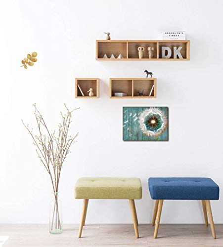 Dandelion Canvas Wall Art For Rustic Home Decor White Dandelion Green Driftwood Theme Country Wall Decor For Bathroom Bedroom Modern Canvas Prints Artwork For Farmhouse Kitchen Wall Decoration 12x16 0 3