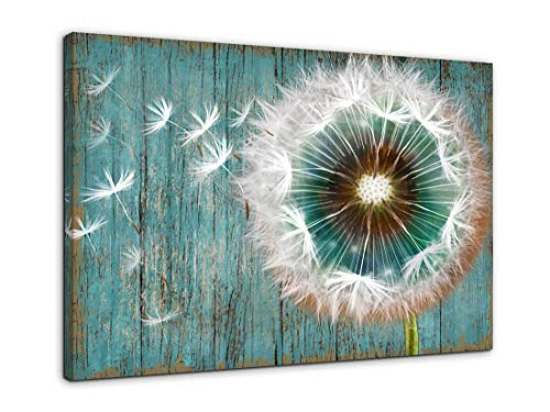 Dandelion Canvas Wall Art For Rustic Home Decor White Dandelion Green Driftwood Theme Country Wall Decor For Bathroom Bedroom Modern Canvas Prints Artwork For Farmhouse Kitchen Wall Decoration 12x16 0