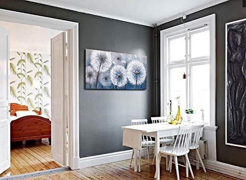 Dandelion Painting Wall Art Canvas Print Picture For Living Room Large White Flower Flora Home Bedroom Decoration Modern Framed Artwork Decor 0 1