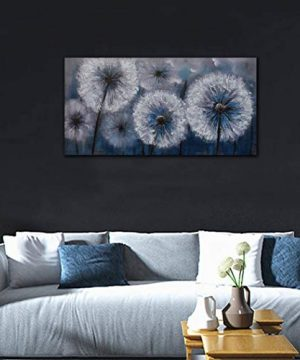 Dandelion Painting Wall Art Canvas Print Picture For Living Room Large White Flower Flora Home Bedroom Decoration Modern Framed Artwork Decor 0 2 300x360