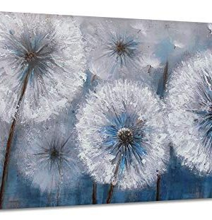 Dandelion Painting Wall Art Canvas Print Picture For Living Room Large White Flower Flora Home Bedroom Decoration Modern Framed Artwork Decor 0 300x311