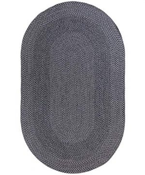 Decomall Azure Braided Oval Indoor Outdoor Area Rugs 4x6 Oval Grey 0 0 300x360