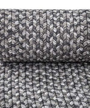 Decomall Azure Braided Oval Indoor Outdoor Area Rugs 4x6 Oval Grey 0 1 300x360