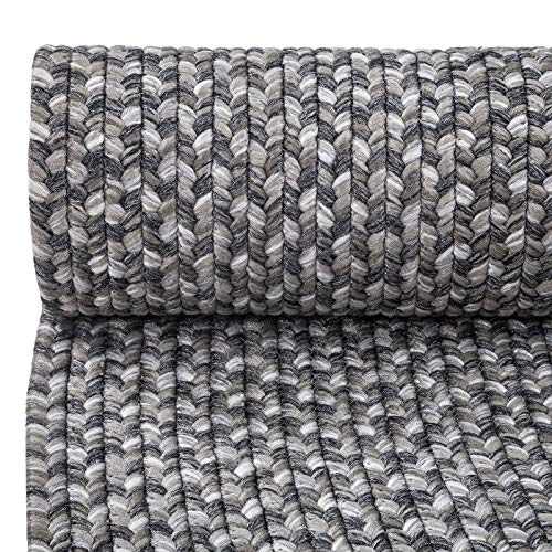 Decomall Azure Braided Oval Indoor Outdoor Area Rugs 4x6 Oval Grey 0 1