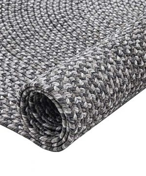 Decomall Azure Braided Oval Indoor Outdoor Area Rugs 4x6 Oval Grey 0 3 300x360