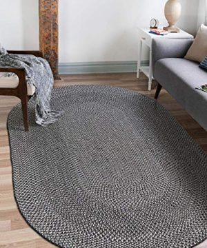 Decomall Azure Braided Oval Indoor Outdoor Area Rugs 4x6 Oval Grey 0 300x360