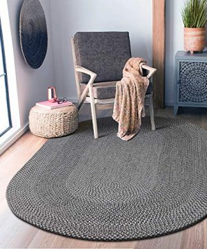 Decomall Azure Braided Oval Indoor Outdoor Area Rugs 4x6 Oval Grey 0 4 300x360