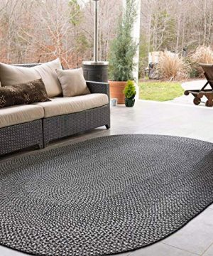 Decomall Azure Braided Oval Indoor Outdoor Area Rugs 4x6 Oval Grey 0 5 300x360