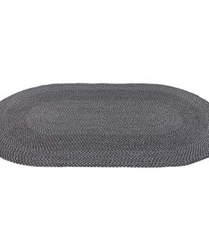 Decomall Azure Braided Oval Indoor Outdoor Area Rugs 6x9 Oval Grey 0 300x360