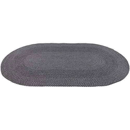 Decomall Azure Braided Oval Indoor Outdoor Area Rugs 6x9 Oval Grey 0