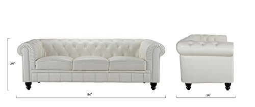 Divano Roma Furniture Classic Sofas Large Off White 0 4