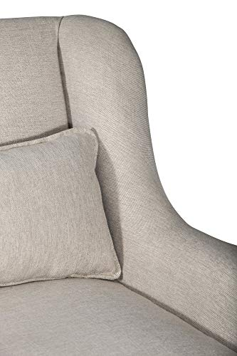 Elle Decor Wingback Two Toned Fabric Sofa Modern Farmhouse Living Room Couch Fabric Accent Loveseat Pillow Backrest Cushions 0 1