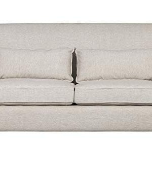 Elle Decor Wingback Two Toned Fabric Sofa Modern Farmhouse Living Room Couch Fabric Accent Loveseat Pillow Backrest Cushions 0 3 300x333