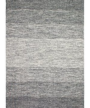Fab Habitat Reversible Cotton Area Rugs Rugs For Living Room Bathroom Rug Kitchen Rug Machine Washable Lucent Black 6 X 9 0 300x360