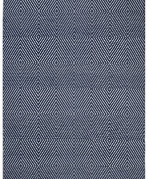 Fab Habitat Reversible Cotton Area Rugs Rugs For Living Room Bathroom Rug Kitchen Rug Zen Dark Blue Bright White 6 X 9 0 300x360