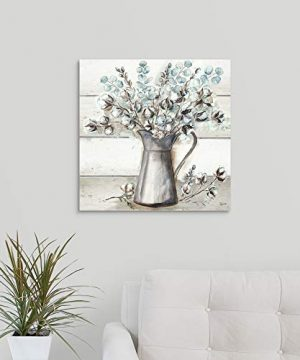 Farmhouse Cotton Tin Pitcher Canvas Wall Art Print 20x20x125 0 0 300x360