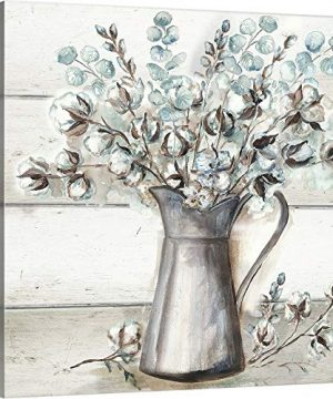 Farmhouse Cotton Tin Pitcher Canvas Wall Art Print 20x20x125 0 300x360