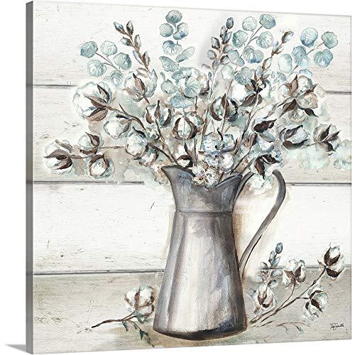 Farmhouse Cotton Tin Pitcher Canvas Wall Art Print 20x20x125 0
