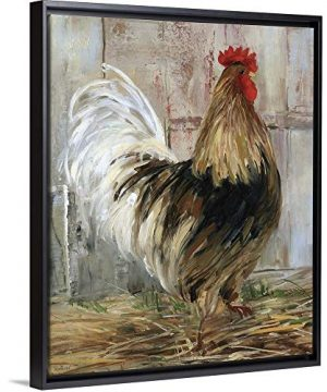 Farmhouse Rooster Black Floating Frame Canvas Art 18x22x175 0 300x360