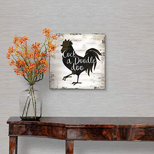 Farmhouse Rooster Canvas Wall Art Print 10x10x125 0 1
