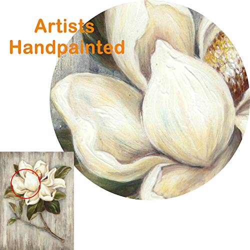 Flower Painting Canvas Wall Art Floral Picture Print Artwork On Wood Texture Canvas For Dining Room 18 X 24 X 1 Panel 0 0