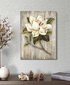 Flower Painting Canvas Wall Art Floral Picture Print Artwork On Wood Texture Canvas For Dining Room 18 X 24 X 1 Panel 0 2 300x360