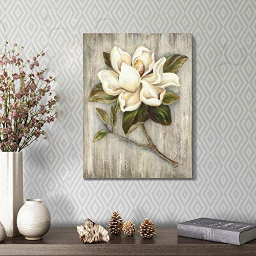 Flower Painting Canvas Wall Art Floral Picture Print Artwork On Wood Texture Canvas For Dining Room 18 X 24 X 1 Panel 0 2