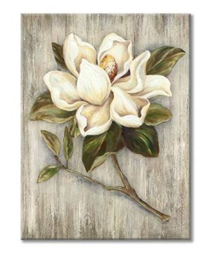 Flower Painting Canvas Wall Art Floral Picture Print Artwork On Wood Texture Canvas For Dining Room 18 X 24 X 1 Panel 0 300x360