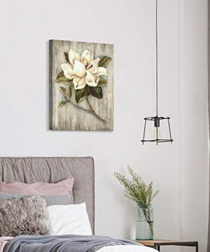 Flower Painting Canvas Wall Art Floral Picture Print Artwork On Wood Texture Canvas For Dining Room 18 X 24 X 1 Panel 0 5 300x360