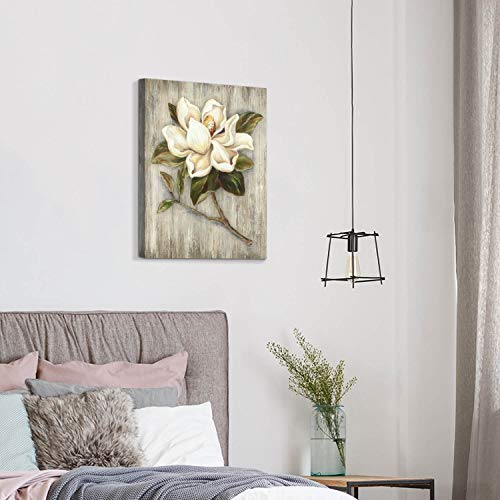 Flower Painting Canvas Wall Art Floral Picture Print Artwork On Wood Texture Canvas For Dining Room 18 X 24 X 1 Panel 0 5