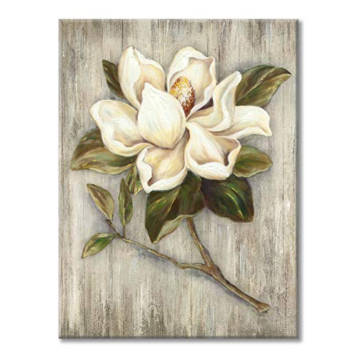 Flower Painting Canvas Wall Art Floral Picture Print Artwork On Wood Texture Canvas For Dining Room 18 X 24 X 1 Panel 0