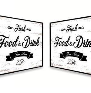Fresh Food And Drink Free Beer Framed Sign Canvas Print Wall Art Black Real Wood Frame White 27x39 0 1 300x306