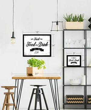 Fresh Food And Drink Free Beer Framed Sign Canvas Print Wall Art Black Real Wood Frame White 27x39 0 2 300x360