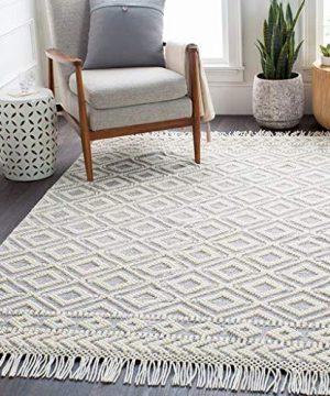Glastonbury Moroccan Bohemian Farmhouse 6 X 9 Rectangle BohemianGlobal 60 Wool40 Cotton Medium GrayWhite Area Rug 0 300x360