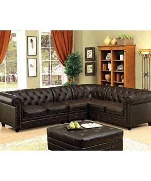 HOMES Inside Out Jaden Traditional Sectional Sofa Brown 0 0 300x360