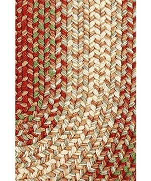 Hartford 3 X 5 Oval Braided Rug IndoorOutdoor Rug Kitchen Rugs In Red SunroomPorch Carpet 0 300x360
