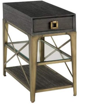 Hekman Furniture Chair Side Table Antique Brass 0 300x360