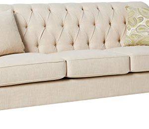 Homelegance Clemencia 85 Linen Like Upholstered Sofa White 0 300x260