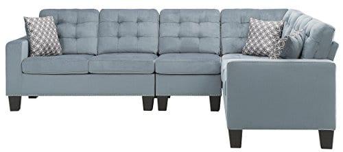 Homelegance Lantana 84 X 107 Fabric Sectional Sofa Gray 0 0