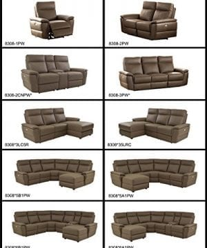 Homelegance Olympia 6 Piece Power Reclining Sectional Sofa With Left Side Chaise USB Port Cup Holder Console Top Grain Leather Match Raisin 0 0 300x360