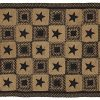 IHF Home Decor 5 X 8 Feet Rectangle Braided Floor Carpet Accent Rug Country Star Black Design Jute Fabric Tan Black 0 100x100