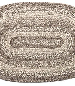 IHF Home Decor Ashwood Braided Rug 5x8 Oval Accent Floor Carpet Natural Jute Material Doormat Gray Beige Woven Collection 0 300x343