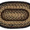 IHF Home Decor Black Forest Braided Rug 20 X 30 To 8x10 Oval Accent Floor Carpet Natural Jute Material Doormat Black Beige Brown Woven Collection 36x60 0 100x100