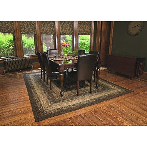 IHF Home Decor Braided Rug Cappuccino Design Rectangle Area Rug Jute Fiber 5 X 8 0 0